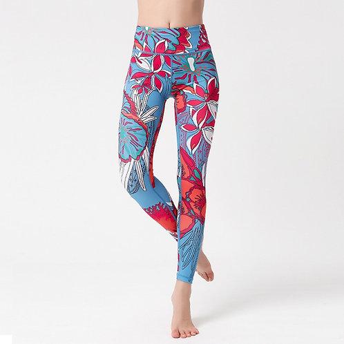 油畫風瑜珈長褲Oil painting style yoga pants