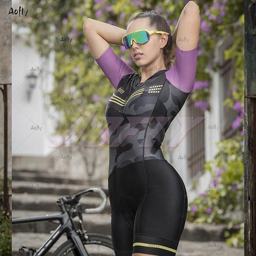 Kafitt城市迷彩公路車萊卡短袖連身衣褲 Kafitt Urban Camouflage Cycling Jumpsuit