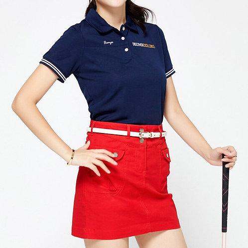 高貴質感高爾夫運動鈕扣口袋短裙 Noble texture golf sport button pocket skirt