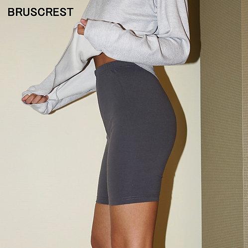 萊卡瑜珈彈力運動褲Cotton Cute Basic Mini Biker Shorts