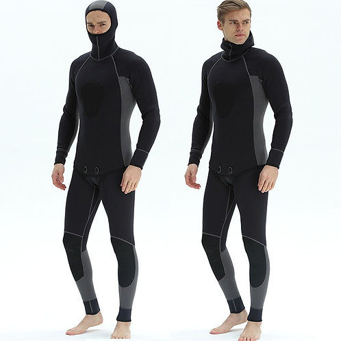 3mm氯丁橡膠兩件式防寒保暖潛水服 3mm Men's Neoprene Two Pieces of Submersible Diving Suits