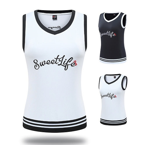 女士無袖英倫風秋冬高爾夫/網球背心 Ladies Sleeveless British Style Autumn/Winter Golf/Tennis Vest