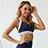 Thumbnail: 女藍色條紋健身瑜伽彈性快乾套裝 Blue Stripe Workout Yoga Set Women