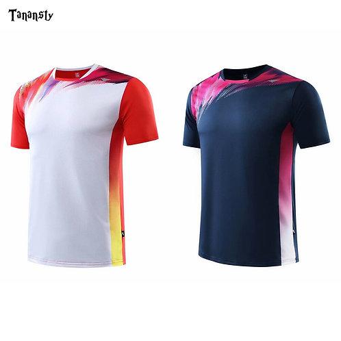 運動風年輕時尚男女吸排球衫Sporty young fashion men's and women's volleyball shirt