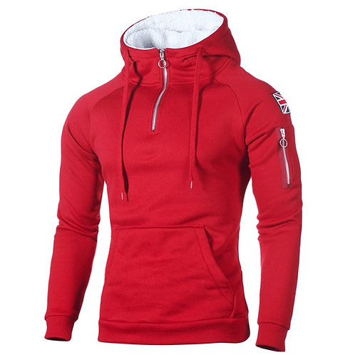 型男連帽保暖絨長袖帽衫  Men's Hoodies  Warmer Running Sportswear