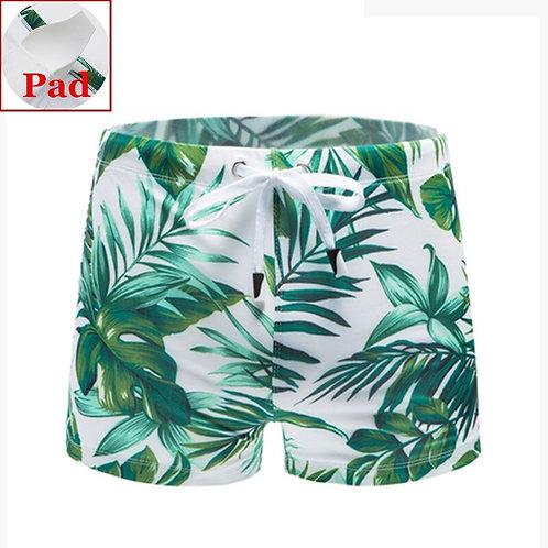 熱帶島嶼平角泳褲 (附護檔) Tropical island boxer shorts
