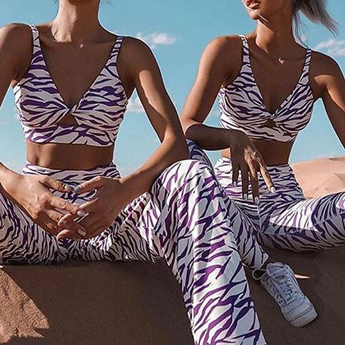 可愛斑馬紋運動套裝Cute zebra pattern sports suit