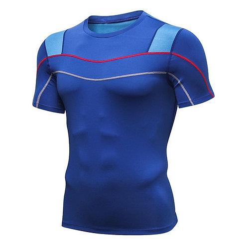 男性速乾跑步透氣T恤Men T-Shirt Quick Dry  Running Polyester Breathable