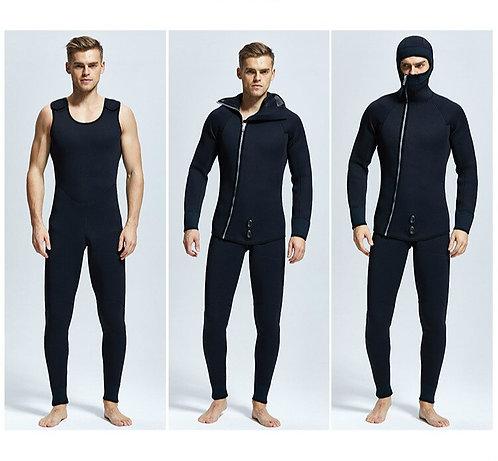 7MM兩件式氯丁橡膠尼龍防水保暖潛水服 7MM Two Pieces of Neoprene Nylon Scuba Diving Suit