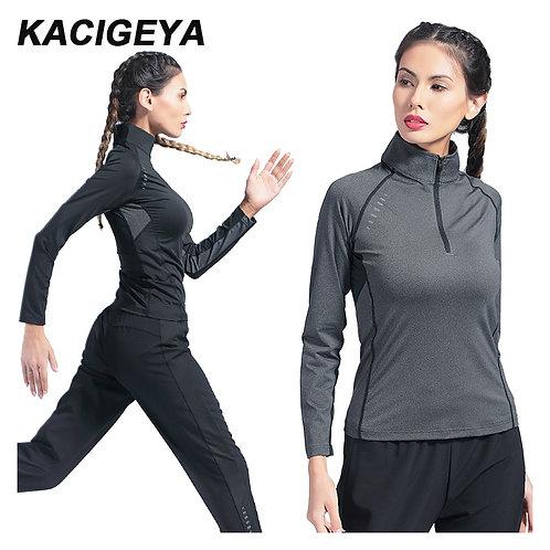 瑜伽健身拉鍊上衣 Yoga Fitness Zipper Reflective Shirt