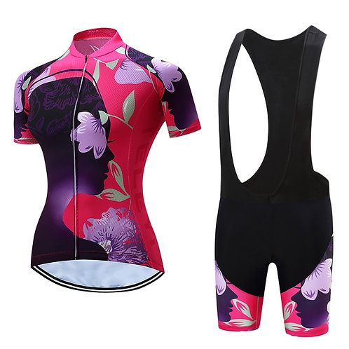 日式花藝專業女性自行車套服 Japanese style floral professional female bicycle suit
