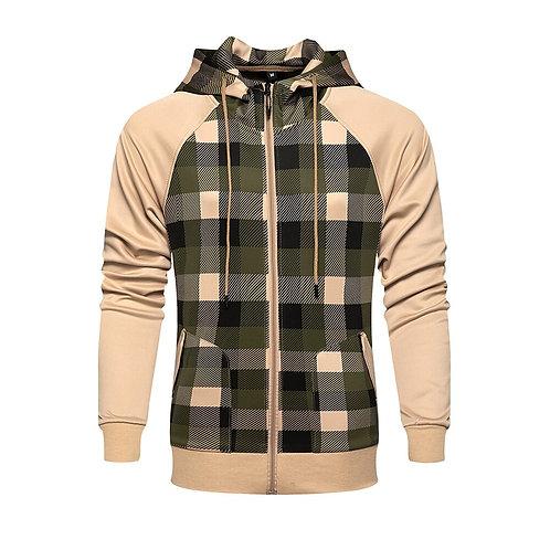 男士格子夾克風衣 Men Plaid  Windbreaker Jacket