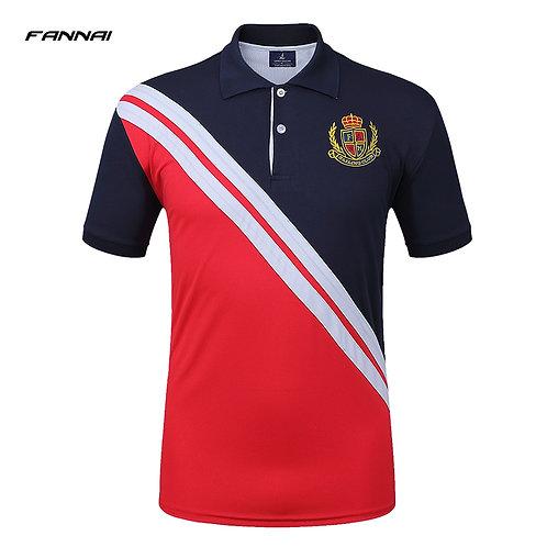 高品質時尚刺繡修身足球Polo衫 High Quality Fashion Embroidery  Slim Fit Soccer Polo Shirt