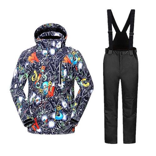 酷炫時尚加厚滑雪服套裝 Cool and fashionable padded ski suit