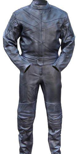沉穩全黑重機真皮套裝All black heavy machine leather suit