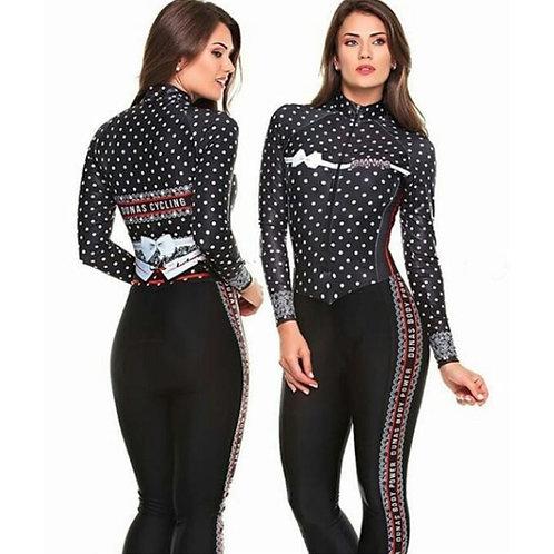 DUNAS長袖女單車連身褲 Dunas Long Sleeve Women's Cycling Jumpsuit