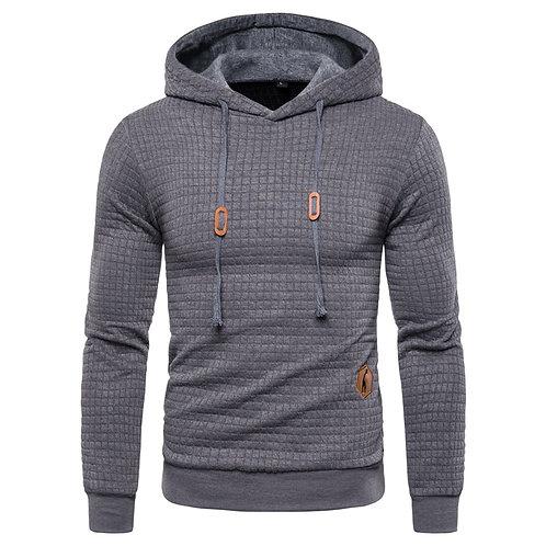 男士休閒連帽格子套衫 Casual Hooded Sweatshirt