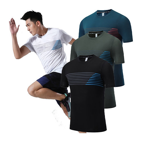 頂級透氣彈性健身速乾短袖 Breathable Top Elastic Fitness Quick Dry Short