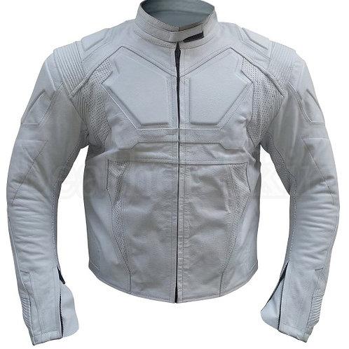 男士白色騎士真皮夾克 Oblivion Men White Leather Jacket