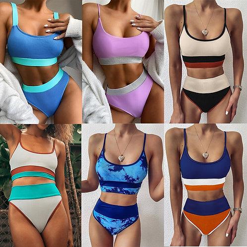 繽紛捲心酥比基尼套裝Colorful wafer roll bikini Set