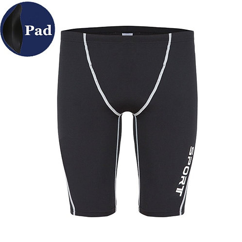 專業男士五分訓練衝浪泳褲 (附護檔) Professional men's five-point training surf swimming trunks