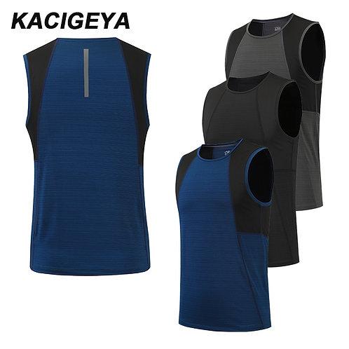 壓縮無袖緊身男背心 Quick Dry Breathable Compression Tight Vest