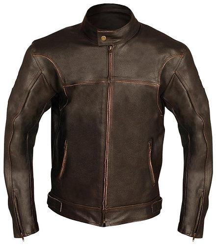 十八世紀棕色騎士真皮夾克 Brown Biker Genuine Leather Jacket