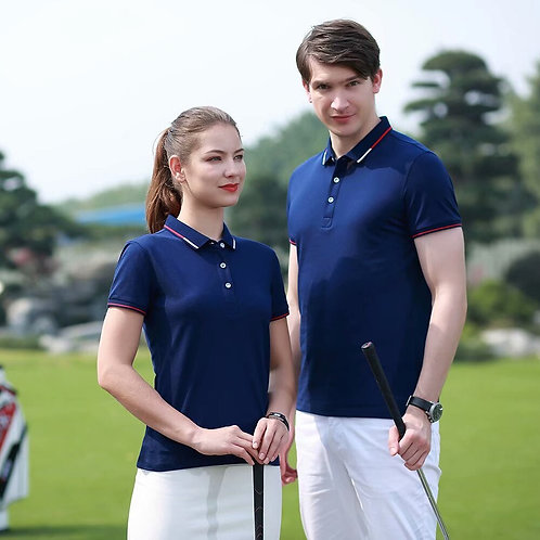 男士時尚透氣 CVC Polo衫 Breathable Golf Jersey Sport Polo Shirt