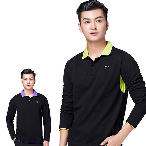 高爾夫純色長袖速乾排汗衫 Golf solid color long-sleeved quick-drying sweatshirt