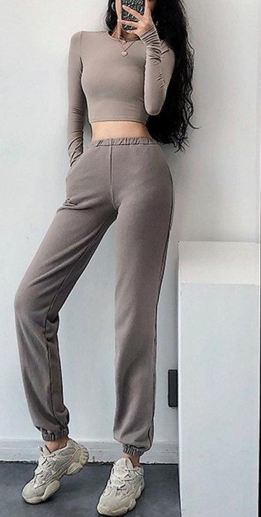 寬鬆高腰棉質運動褲Loose high waist cotton sweatpants