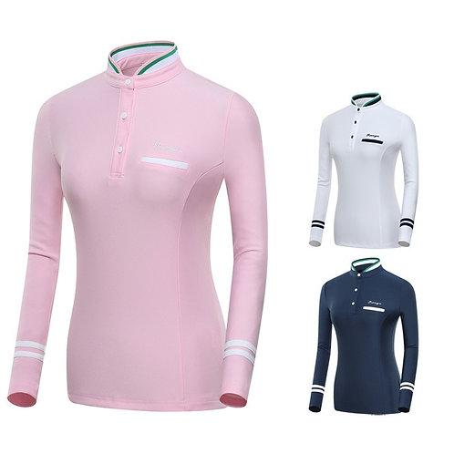 女子專業長袖保暖高爾夫球衫 Women's professional long-sleeved warm golf shirt