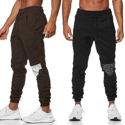 拼接修身運動褲 Fabric Stitching Slim Fit Sweatpants