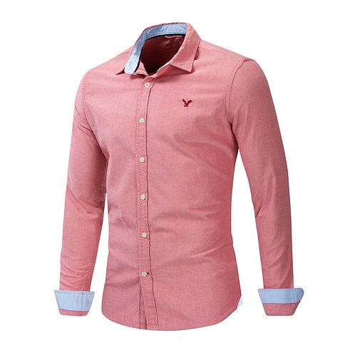 優質商務純棉修身襯衫Turn-Down Collar Cotton Business  Slim Fit Shirt