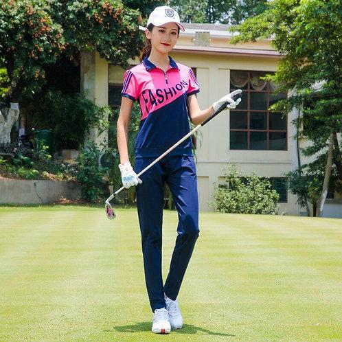 女子曼妙合身高爾夫機能上衣+長褲 Women's graceful fit golf functional top + trousers