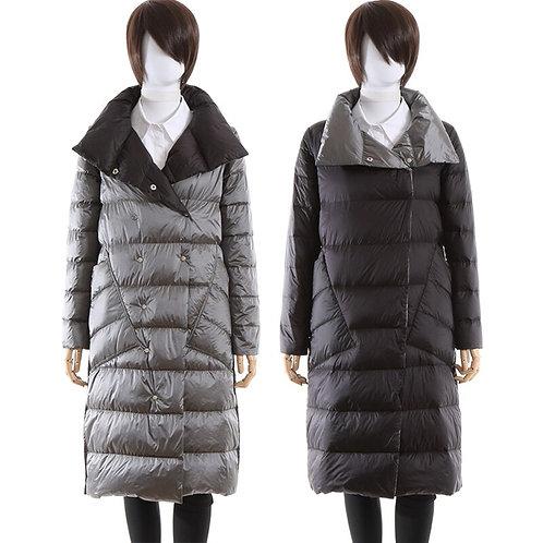 單排扣冬季大衣白色鴨絨超輕雪衣外套 Single Breasted Parkas Duck Down Ultra Light Snow Coat