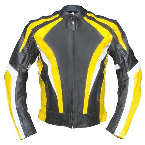 陽光線條修身重機真皮夾克Sunshine line slim-fit heavy machine leather jacket