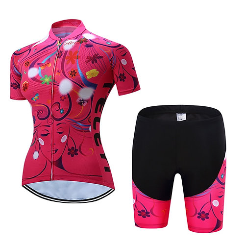 繽紛美麗佳人專業鐵人自行車套服 Colorful Beauty Professional Triathlon Bike Suit