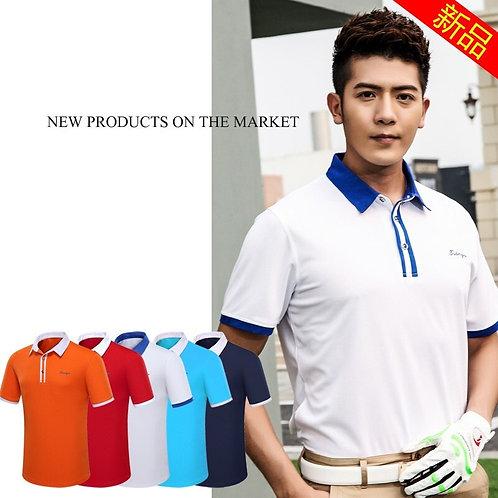 男子素色機能高爾夫POLO衫 Men's plain functional golf polo shirt