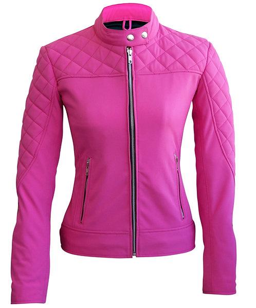 女士粉色軟殼皮夾克 Women Pink Soft Shell Jacket
