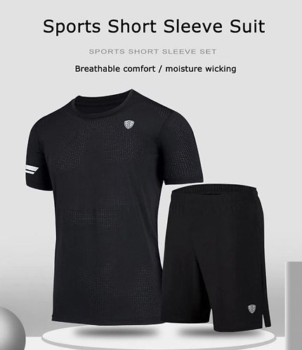 新款快乾男士跑步短袖套裝 NEW Quick Dry Men's Running Set