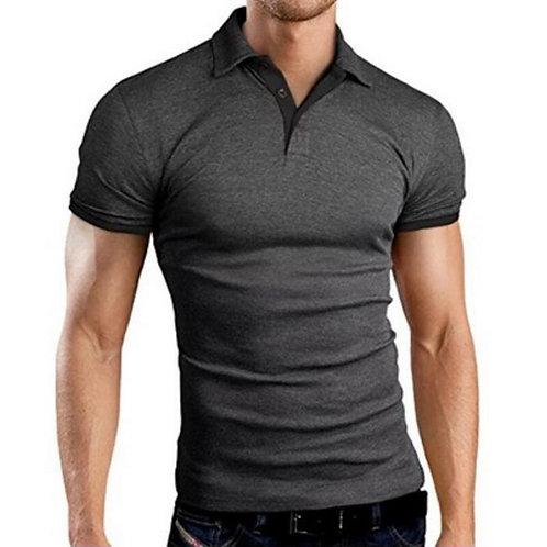 翻領修身透氣純色商務Polo衫 Breathable Solid Color Business Polo Shirt