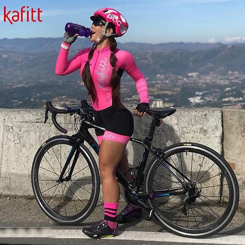 KAFITT 專業鐵人三項長袖連身衣 KAFITT Pro Team Triathlon Long Sleeve Cycling Jersey Suit