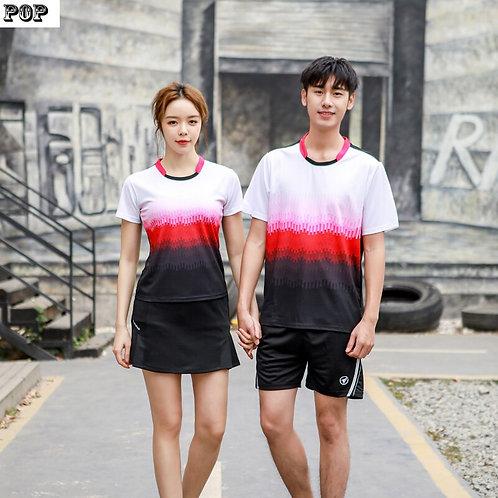 漸層火力運動套裝(情侶款)Gradient Fiery Sports Suit (Couple Style)