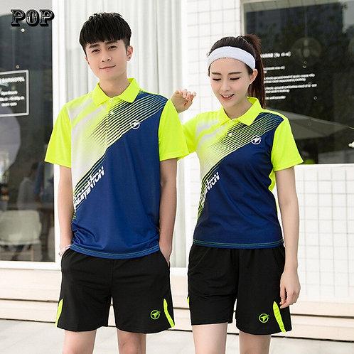 輕質亮色系情侶運動POLO套裝Lightweight bright color couple sports POLO suit