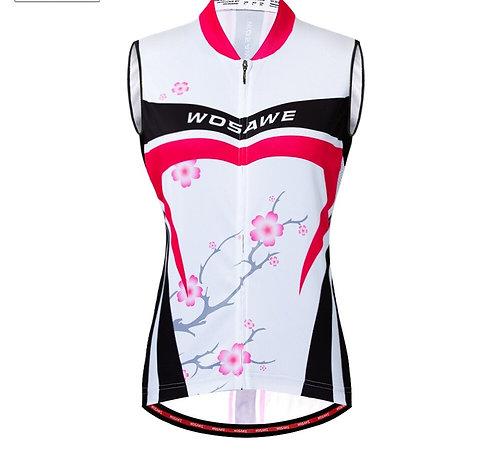 花花系列女士無袖背心/上衣Polyester Cycling Vest / Short sleeve