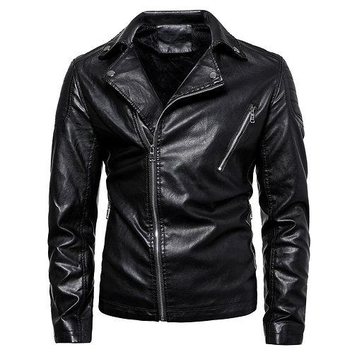 立領時尚男士PU夾克 Stand Collar Fashion PU Leather Jacket
