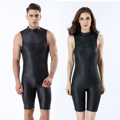 2MM CR短袖超彈力連身潛水服Men/Women 2MM CR Ultra Elastic Short Sleeveless Wetsuits