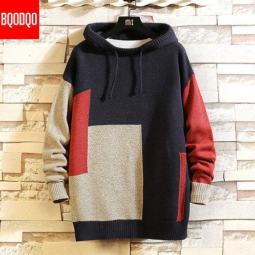 針織連帽套頭衫(設計師版)Knitted Hooded Jumper Designer Sweater