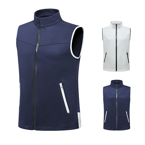 男士高爾夫無袖秋冬防風保暖背心 Men's golf sleeveless autumn and winter windproof warm vest