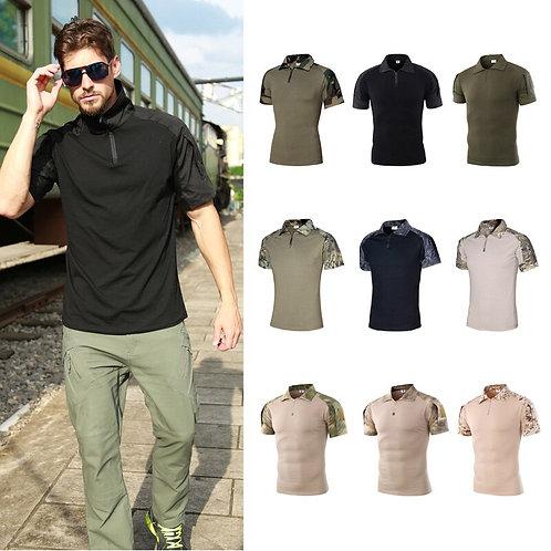 野外迷彩短袖速乾T恤 Men's Camo Combat Tactical Shirt